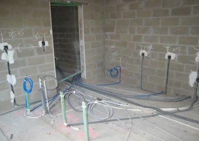 Encastrement installation électrique