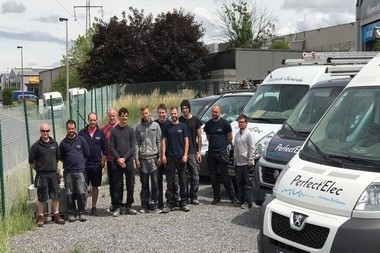 Electriciens à Verviers - Equipe Perfect'Elec