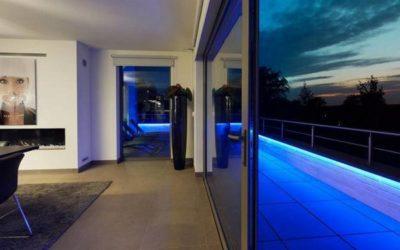 Installation d'éclairages dans une villa à Spa